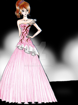 cherry blossoms long dress by fitanina