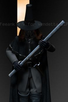 V for Vendetta WIP 22 by feeank