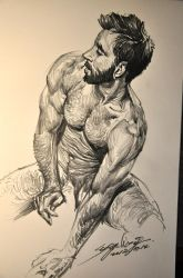 MALE BODY SKETCH by banhatin