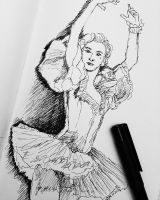 Sketch of a ballerina by TheHopelessDreamer