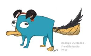 Perry Like a Dog - Perry Perro - Color by freelifestudio