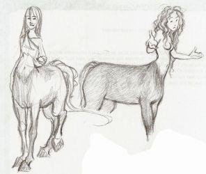 Centaurs - Sketches by mei-ming