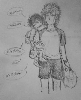 Killua and Elodea Shopping------SKETCH by Highway3