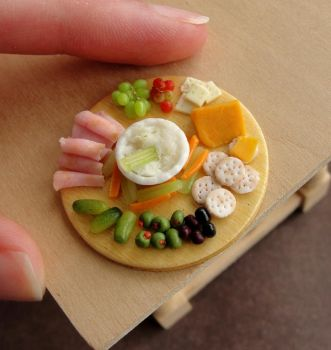 1:12 Scale Appetizer Platter Remake by fairchildart
