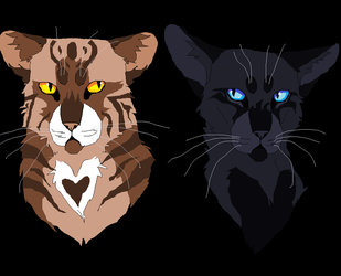 Leafpool and Crowfeather (MS Paint) by TheRealBramblefire