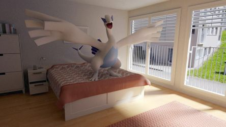 Lugia in a Bedroom by thazumi