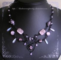Spring Garden on black by blackcurrantjewelry