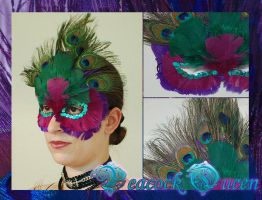 Peacock Queen Mask by Angelic-Artisan