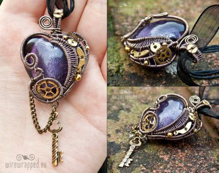 Steampunk heart with a key 4 by ukapala