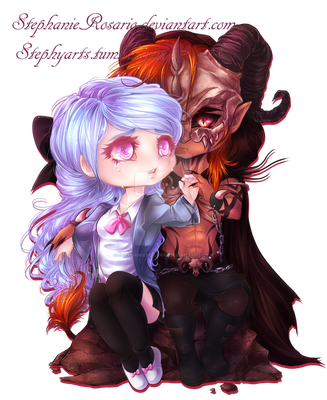 .:. Chibi Commission: DeathBliss .:. by StephanieRosario