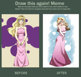 Draw this Again Meme - Princess by NomadicStardust