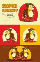 Super Monkey Vector by caffeinesoup