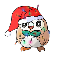 Rowlet's Christmas (GIF) by sunny-dean