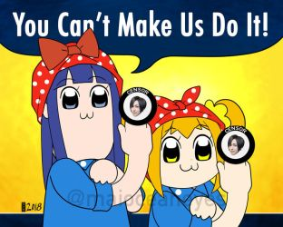 Commission. Pop Team the Riveters by maioceaneyes