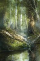 The only water in the forest is the river by Zetsuboushi
