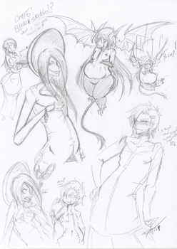 OMFG Bleach Sketches by Squidbiscuit