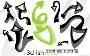 3D-ish Arrow Brushes by Xernin