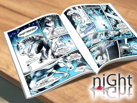 Night Light comic pages by waversphils