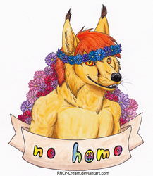 no homo - Badge for Honigeintopf by RHCP-Cream