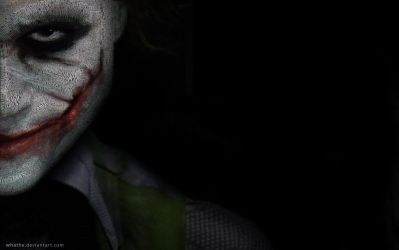 The Joker- Wallpaper by whathe