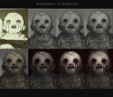basement monster Step by Step by EdwardDelandreArt
