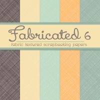 Free Fabricated 6: Fabric Textured Papers by TeacherYanie