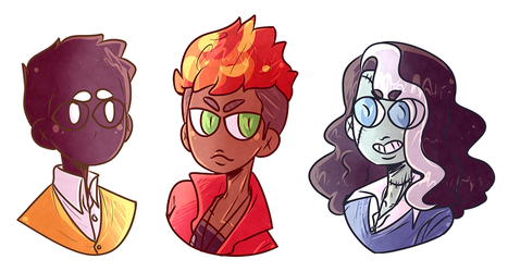 MONSTER PROM - Oz, Amira and Vicky by akkame