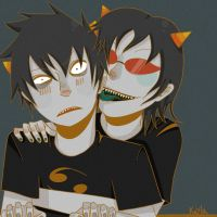 Karkat and Terezi by frillium