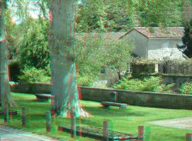 Near the cinema 4 3D Anaglyph by xmancyclops