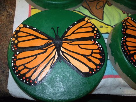 Monarch Butterfly Stepping Stone 1 by EllaRow