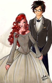Lily and James Potter by simplytonks