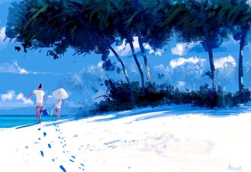 Hot sand and lazy clouds. by PascalCampion