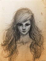 Girl - Sketch by Dmeville