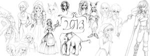 Sketch Dump January 2013 by Nicacolalite