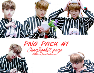 PACK PNG #1 - JUNGKOOK Myeongdong Fansign by MThieenLam