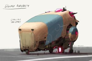 Squad Vehicle Concepts  - Civilian Air Transport by joulester