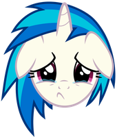 Vinyl Scratch - Sadface (updated) by namelesshero2222