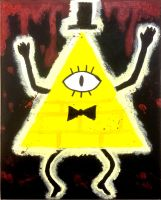 Bill Cipher painting by CreepypastaJTK
