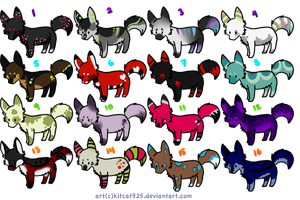 Small Canine Adopt Batch Closed by Cosmic-Adopts