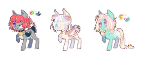 Some pastel ponies  | Auction | Closed by Kitten-in-the-jar