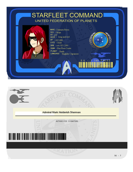 Onimaru star fleet ID card by FMADragonboy
