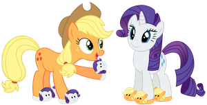Rarity and AJ by Sikander-MLP
