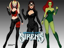 Gotham City Sirens by LadyRaw90