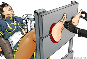 Chun Li locked in stocks by Bad-Pierrot