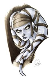 Aayla Secura by AdamWithers