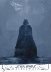 Star Wars Masterworks from Topps - Darth Vader by IngridKVHardy