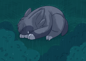 Wyngro - Caught in the Rain by SketchyDemon