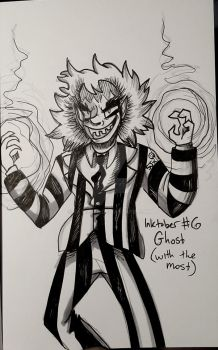 Inktober #6 Ghost (with the Most) by Bat13SJx