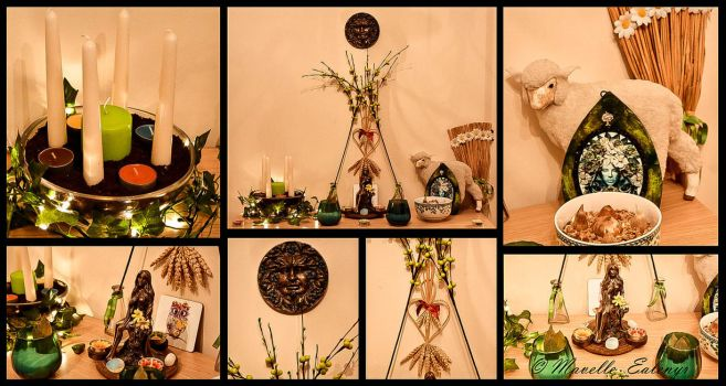 Imbolc / Candlemas Altar - 2018 by Mavelle-Ealenyr