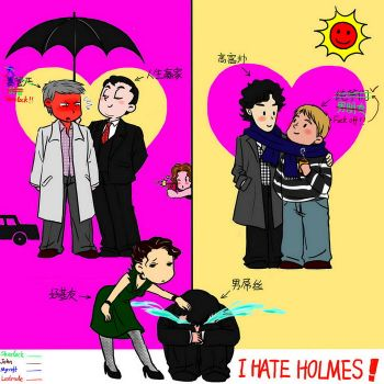 relationship of charactors in BBC Sherlock by baiji